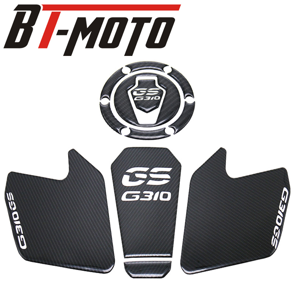 G310GS Motorcycle Accessories Real Tank Pad Gas Fuel Sticker Moto Decal Emblem Protector For BMW G310 GS 1 Set
