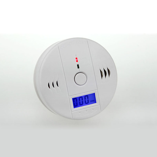 LCD Screen Carbon Monoxide Alarm CO Alarm Gas Leak Detector Automatically Switch The Third Gear Detection Free Shipping