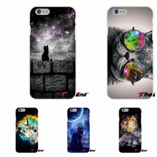 For iPhone X 4 4S 5 5S 5C SE 6 6S 7 8 Plus Galaxy Grand Core Prime Alpha Nebula Space Cute Cat Soft Phone Case Silicone Cover(China)