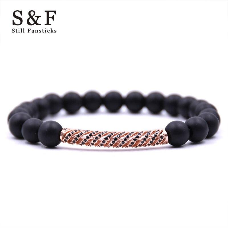 Copper Buda Bracelet Men Jewelry Charms Bracelet Erkek Bileklik 8mm Braslet Bracelets For Women Bangles Pulseira Masculina 2018