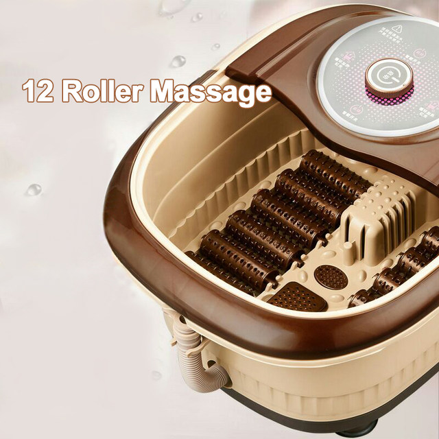 Online Shop automatic roller surfing heat foot SPA massage basin ...