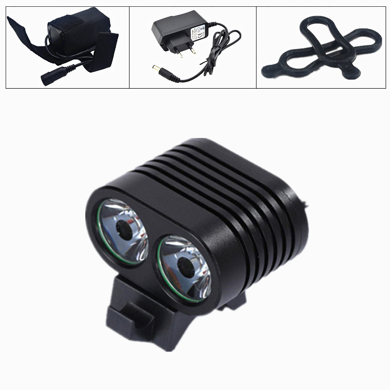 Waterproof  5000Lumen XM-L T6 LED Head Front Bike Bicycle Light HeadLamp+6400mAh