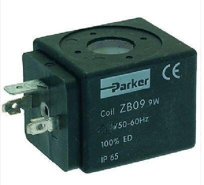 PARKER ZB09 9W 220 - 230 VOLT SOLENOID VALVE COIL ONLY - COFFEE ESPRESSO MACHINE phs520d 02 110v d new parker solenoid valve 1 0 9 bar 0 1 0 9mpa