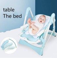 Многофункциональный Детские младенческой дети едят стол и стул складной учиться сидеть стул портативные стул съесть стул