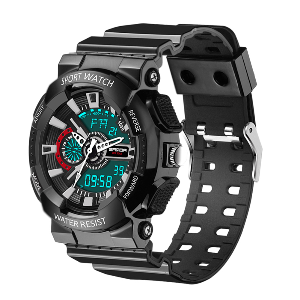 2017 New Men Digital Sports Military Watch Electronic Dual Time Zone Waterproof Army Watch relogio masculino relogio militar men s waterproof sports watch multifunctional watch w dual time zone led