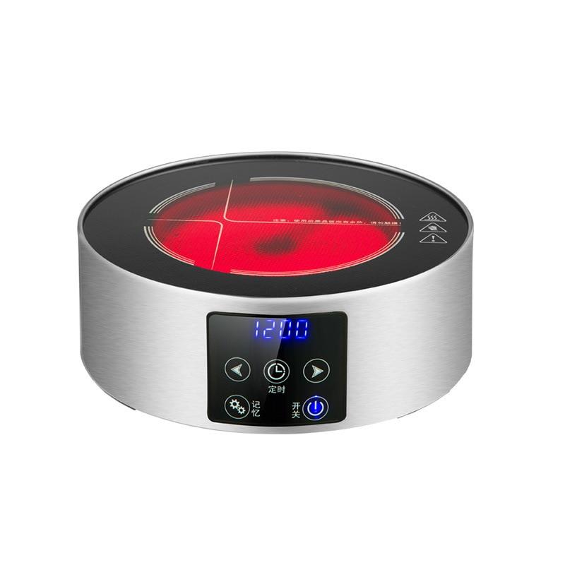 AC220 240V 50 60 hz mini elektrische keramische kookplaat kokend thee verwarming koffie 1200 w power 6 bestanden kan timing 3 uur - 4
