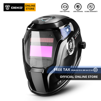 Original DEKO DNS 550 Solar Power Auto Darkening Welding Helmet Welder Lens Mask 92*42cm Larger View Area for TIG MIG MMA Grind