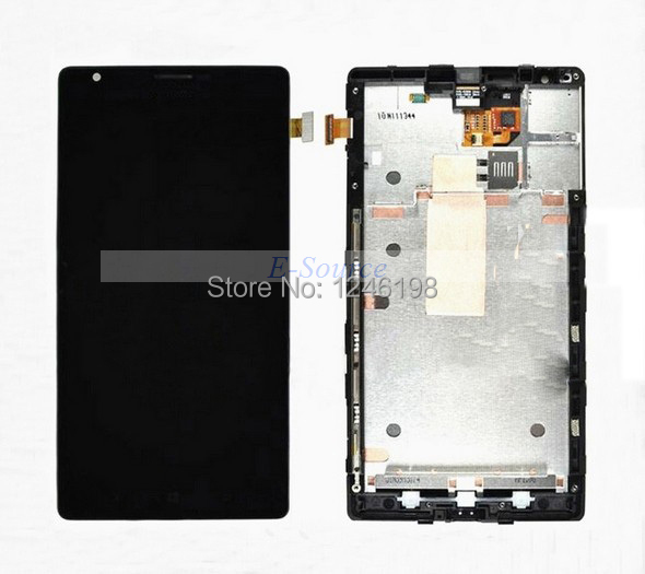 ФОТО 100% Guarantee Good Working LCD Touch Screen Digitizer Assembly For Nokia Lumia 1520 with Frame Mobile Display Replacement