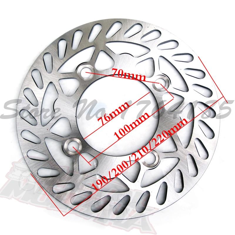 220/210mm Front Brake Disc Disk Rotor for 50cc 110cc 125cc 140cc 150cc 160cc BES wheel Pit Dirt Bike Quad Motorcycle Motocross 4pcs new for ball uff bes m18mg noc80b s04g