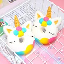 1 PC Soft Squishy Toys Cartoon Unicorn Slow Rising Toy