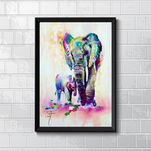 Colorful Elephant Painting for Home Decor