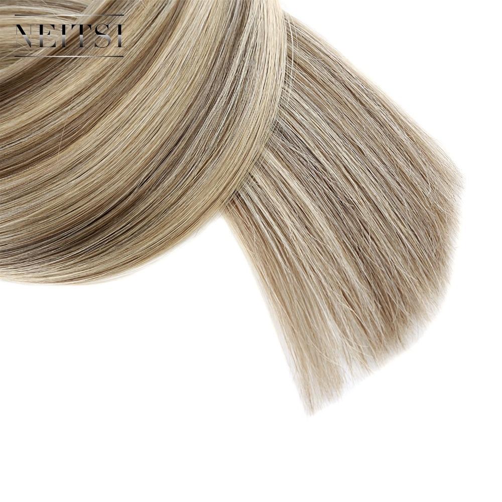 Neitsi Brasiilia sirge inimese fusiooni juuksed, mida näpunäide - Inimeste juuksed (valge) - Foto 5