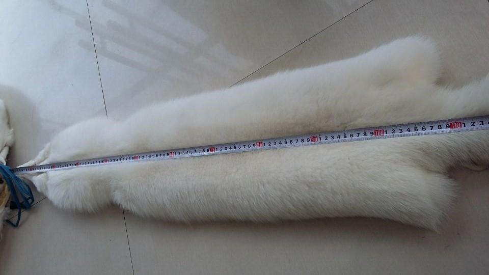 White fox fur pelt large size real fox fur skin (5)