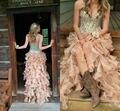 2016 Vestido De Baile de Cristal Frente Curto Longo Voltar Partido Das Meninas Vestido Oi Baixo Espartilho Vestidos de Formatura Abnedkleid Querida