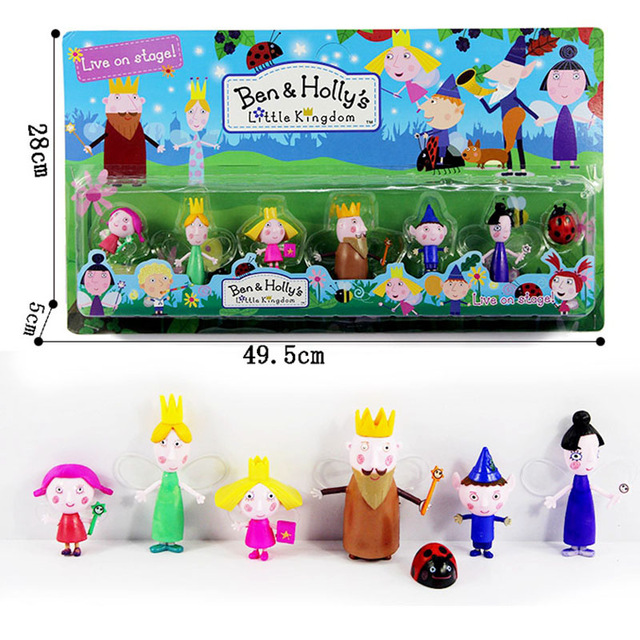 7pcs Set Cute 5 9cm Ben And Holly Little Kingdom Anime Action