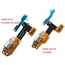 "USB טעינת נמל תקע להגמיש עבור Lenovo יוגה Tab 3 YT3 X50L YT3 X50f YT3 X50 YT3 X50m p5100_usb_fpc_v3.0 USB כבל YT3 850F _ 3 8"""