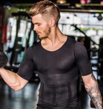 Men's Slimming Shaper Posture Vest Men's Compression T-Shirt Body Building Fat Burn Chest Tummy Shirt Slim Dry Quick Under Shirt