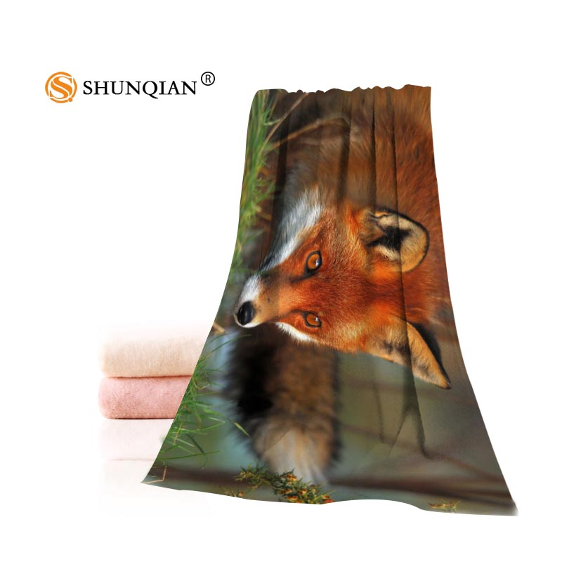 Fox Animals Towels Microfiber Bath Towels Travel,Beach,Face Towel Custom Creative Towel Size 35X75cm And 70X140cm A7.24