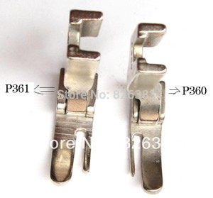2 PCS HINGED CORDING PRESSER FEET FOOT for JUKI DDL-5550, 8300 ,8700, 555 ,227, No.P360/P361