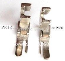 2 PCS HINGED CORDING PRESSER FEET FOOT for JUKI DDL-5550, 8300 ,8700, 555 ,227, NO.P360/P361