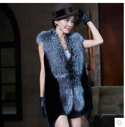 Xs/3Xl Women Winter Autumn Man-Made Fur Vest Coats Casual Female Faux Fur Coat Vest Jacket Clothes Large Size Fur Waistcoats C18