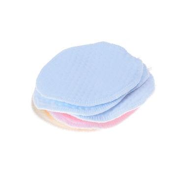 6Pcs Herbruikbare Wasbare Zachte Katoen Absorberende Mom Moeder Kindje Borstvoeding Verpleging Pads Bustier Levert Willekeurige Kleur