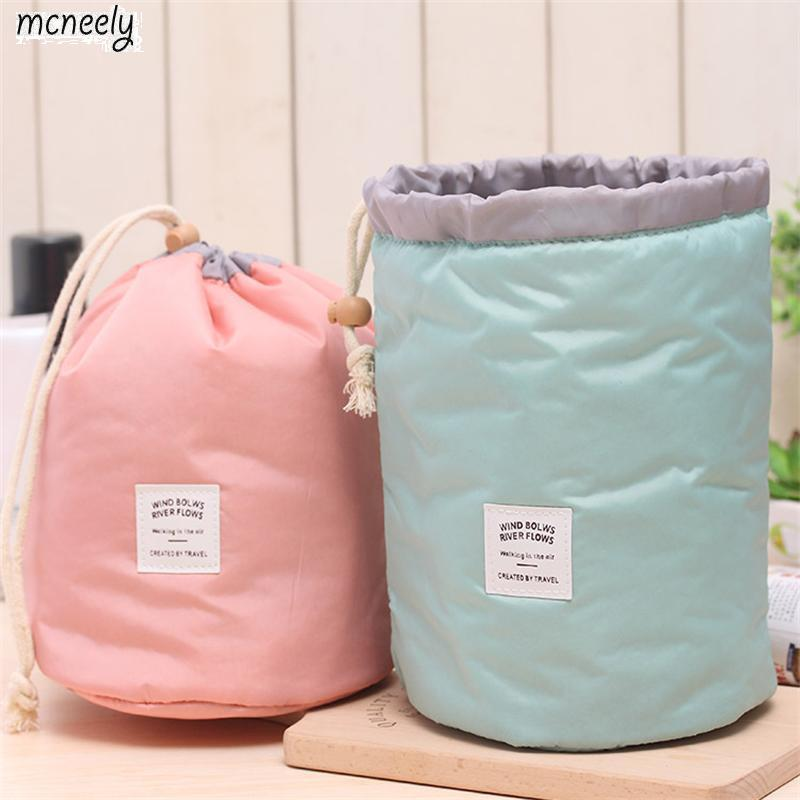 2018 Waterproof Cosmetic Bag Multifunctional Portable Bag Pulling Rope Bundle Mouth Wash Bag Travel Storage Pouch