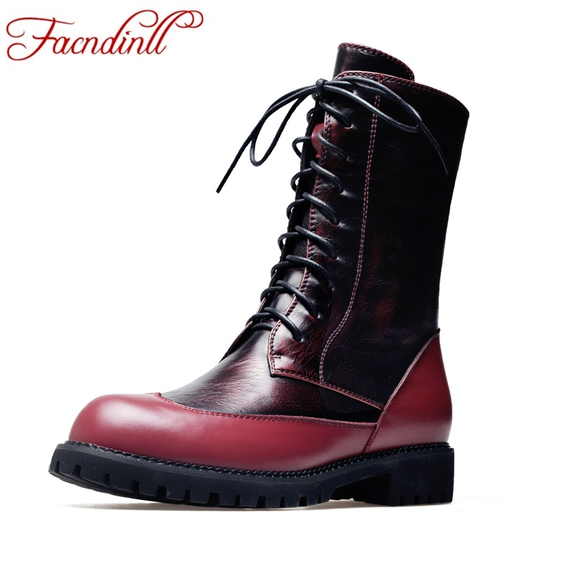 FACNDINLL fashion women ankle boots new med heels round toe shoes woman casual motorcycle riding boots high qulaity short boots riding boots chunky heels platform faux pu leather round toe mid calf boots fashion cross straps 2017 new hot woman shoes