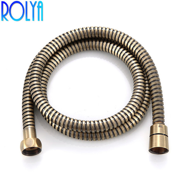 Bronze Shower Hose SUS 1.5 Meters Length Hand Head Flexible Hose 2017 Wholesale Shower Tube Replacement