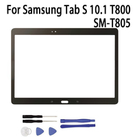 Yeni Yedek LCD Ön dokunmatik ekran paneli Dış Cam Lens Samsung Tab S 10.1 Için T800 SM T805C|glass lens|replacement touch screentouch screen -