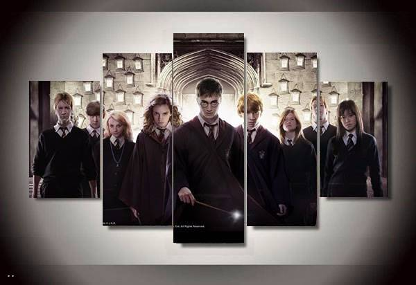 5 Panel Magic Students Harry Potter Painting Canvas Wall Art Picture Home Decoration Living Room Canvas Print Modern Painting