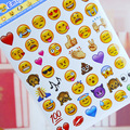 4PCS/Lot Apple Emoji Face Stickers Cute Lovely 48 Die Emoji Smile Spticker Mix 100+ Funny Message Fac Stickers