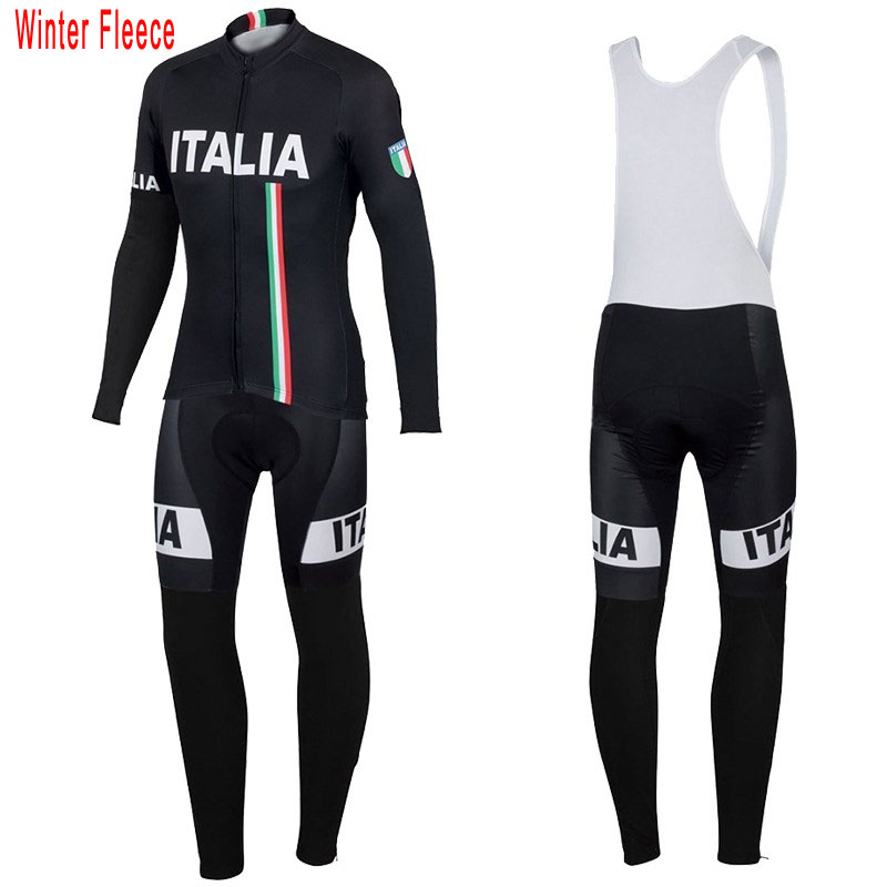 New Italy ITALIA cycling jersey men long sleeve Sets Winter Fleece & no Fleece clothing MTB Mountain thermal wool Bike jersey ckahsbi winter long sleeve men uv protect cycling jerseys suit mountain bike quick dry breathable riding pants new clothing sets