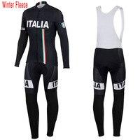 New Italy ITALIA cycling jersey men long sleeve Sets Winter Fleece & no Fleece clothing MTB Mountain thermal wool Bike jersey