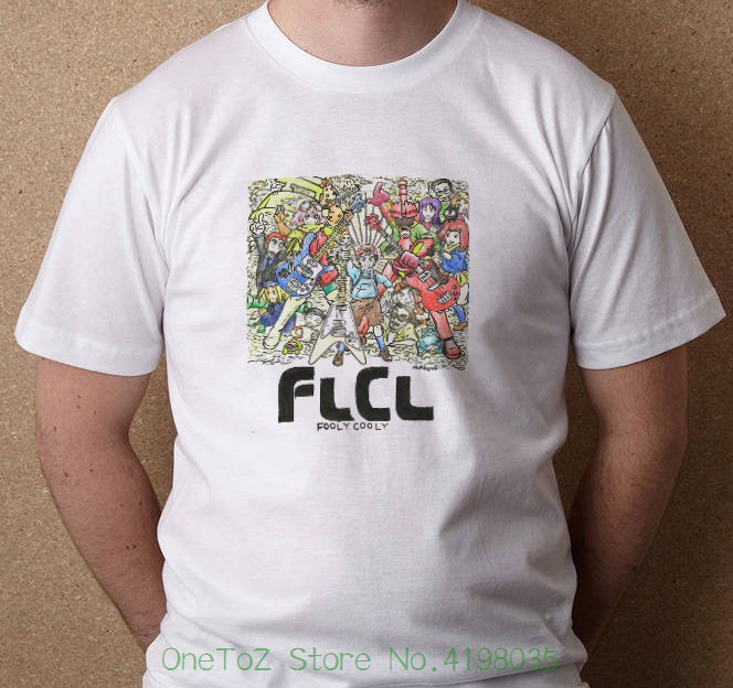 Flcl Fooly Cooly All Characters New Tees T-shirt S - 3xl Summer New Print Man Cotton Fashion