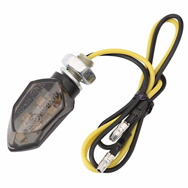 2 sztuk/partia uniwersalny wskaźnik kierunkowskazu motocykla żarówka Amber dla Honda Kawasaki Suzuki Yamaha lampa Flasher
