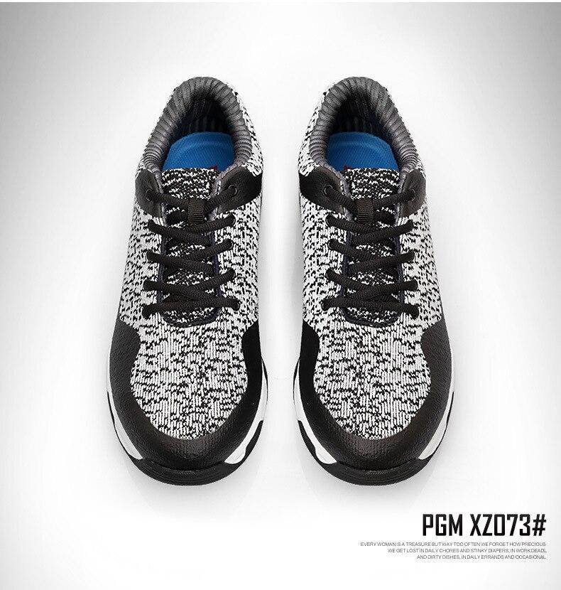 Le métier à tisser respirable de navette des hommes de chaussures de golf de PGM n'est pas facile de déformer les chaussures hautes de boule de double brevet