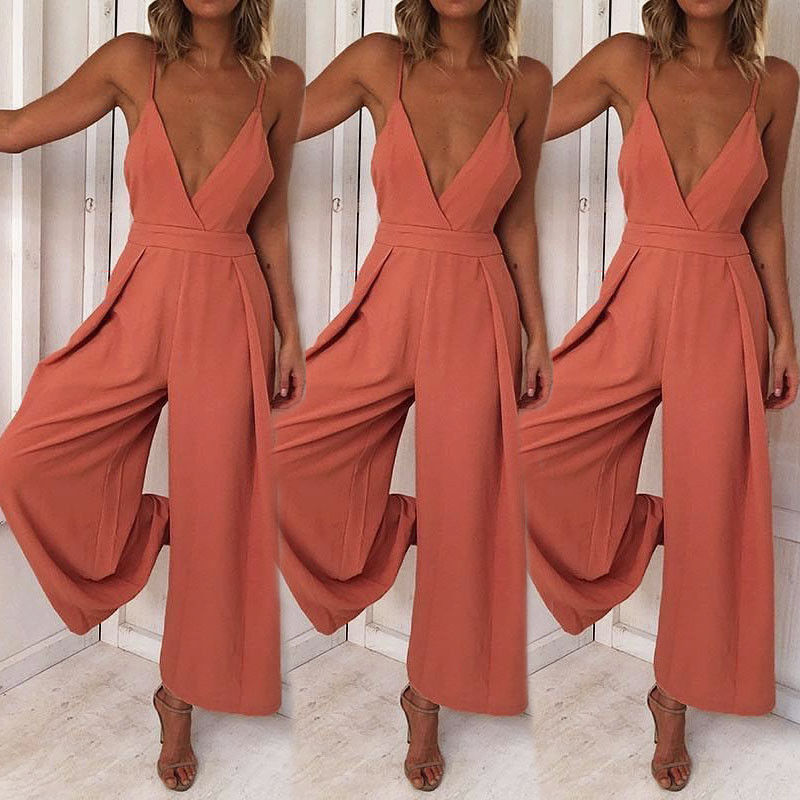 HIRIGIN Newest Hot Women Sexy Summer Playsuits Party Jumpsuit Long Pant V Neck Rompers