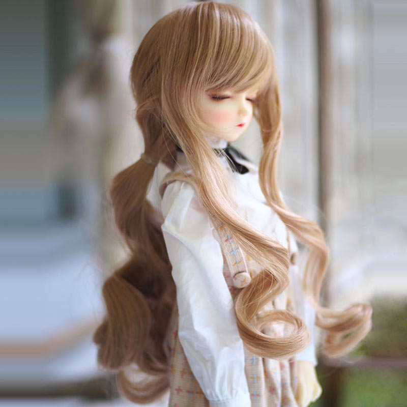 Free Shipping 1/3 1/4 1/6 New Style Bjd SD Doll Wig High Temperature Wire Long Lovely Wavy BJD Super Dollfile Hair Wig to be конусный ключ 13mm