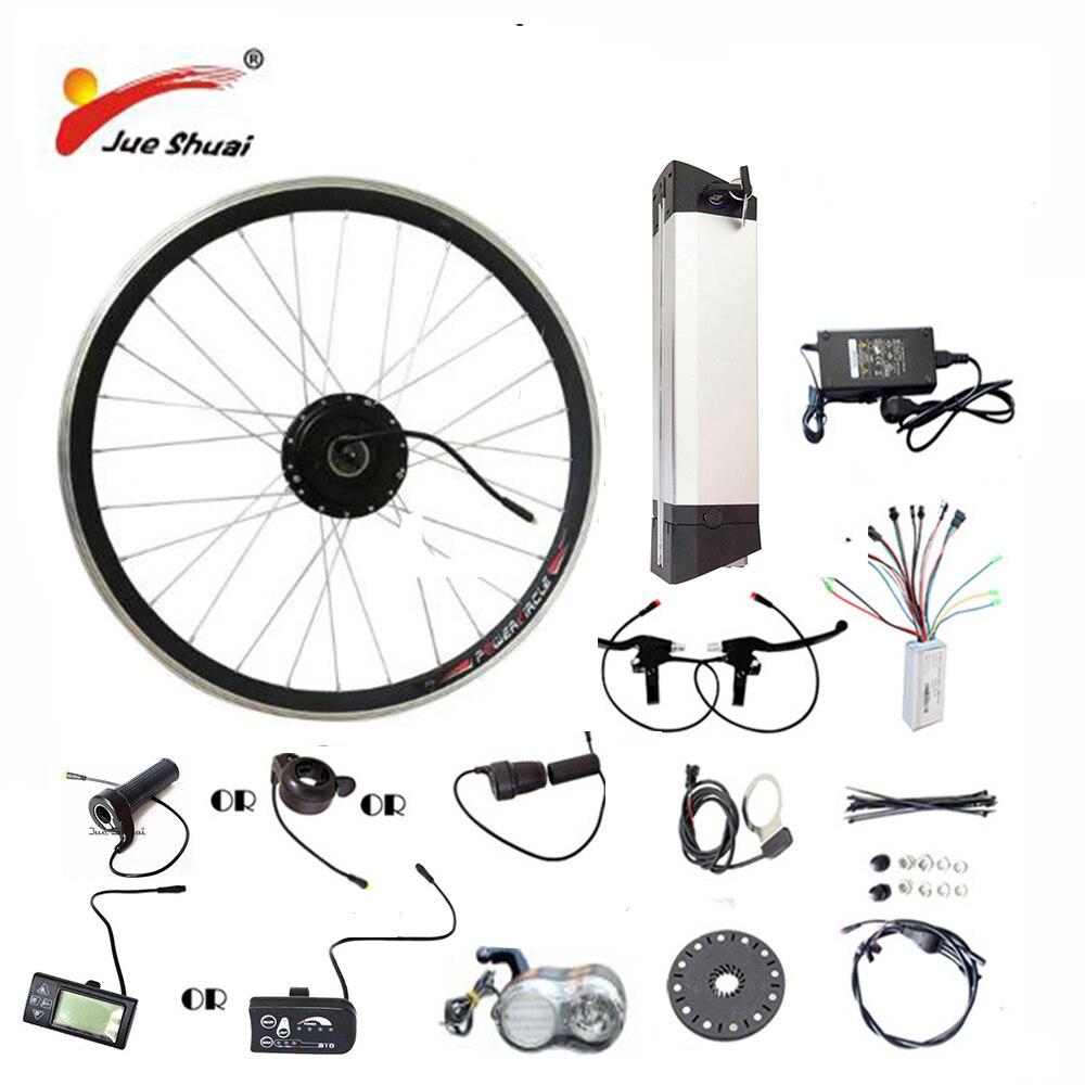 JS Venda Quente 36 v 48 v Kit Bicicleta Elétrica Chaleira bateria 250/350/500 w Volante Do Motor LED LCD Ebike e bicicleta Kit de Conversão Bicicleta Elétrica