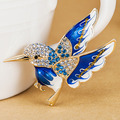 Kawaii Cute Bird Enamel Brooches Bouuqet Collar Feminino Women Gold Hijab Pins And Broaches Colares Bijuterias Fine Crystal Pins