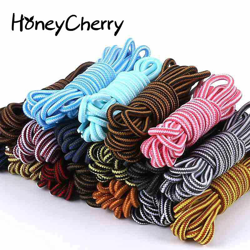 Shoelace Outdoor Sport Shoelace round style 17 color sport shoeslace 90cm 120cm double color shoelaces