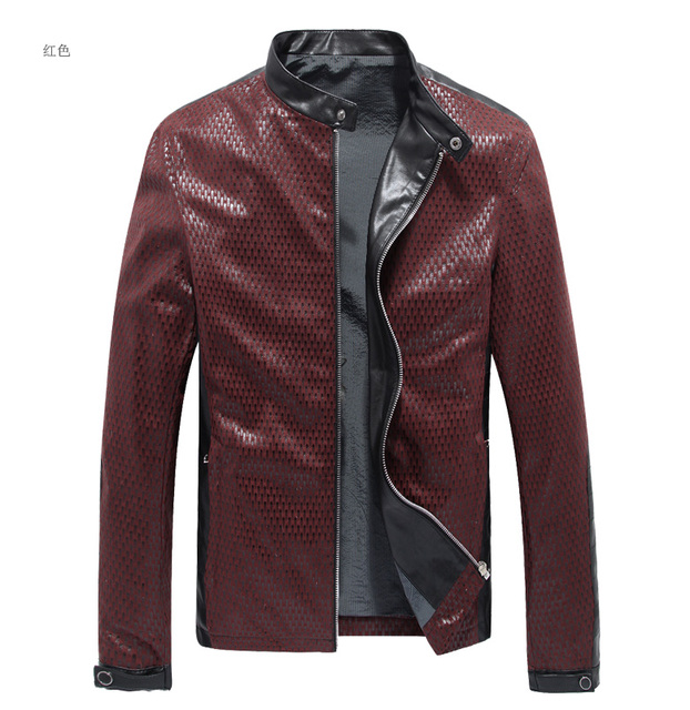 Real Leather Jacket Men Fashion Genuine Leather Mens Jacket Black/Red/Blue/Yellow Blouson Cuir Homme Leather Jackets And Co