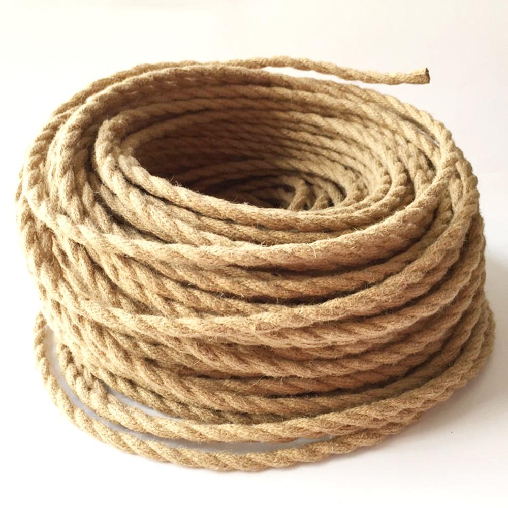 2*0,75 5 Mt/los Vintage Seil Textil Draht Verdreht Kabel ...