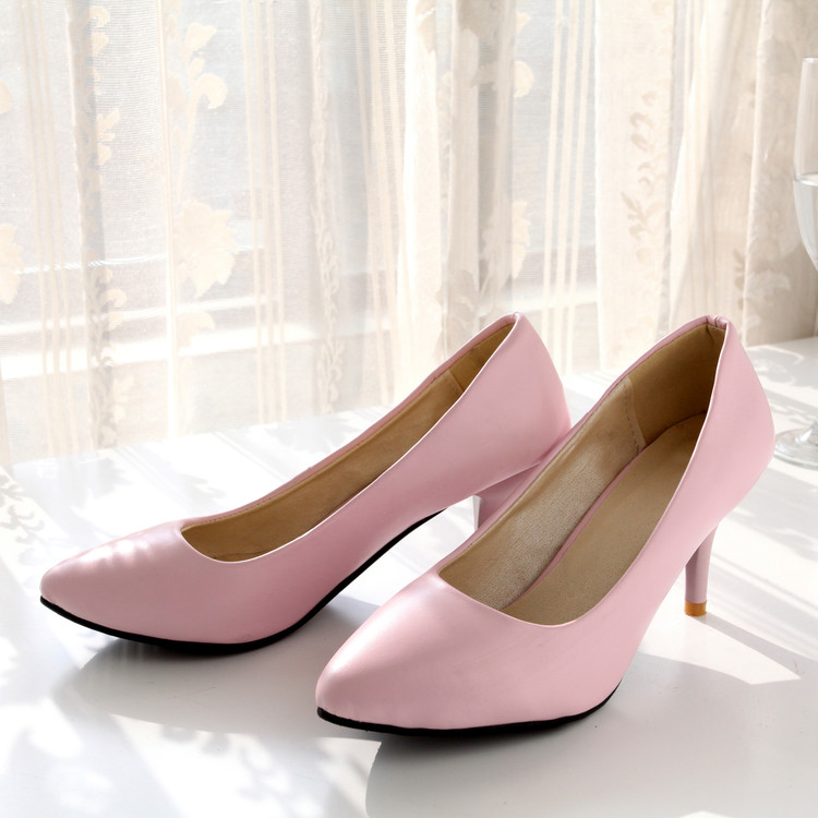 2018 Women Pumps Shoes Medium(b,m) Sale Big Size 31-46 New Brand Bottom High Heels Pumps Candy Colors Pointed Toe Hot 909-1