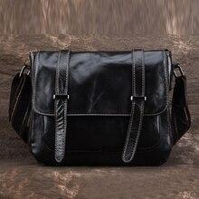 100% Genuine Leather Men Women Business Messenger Bag Cross