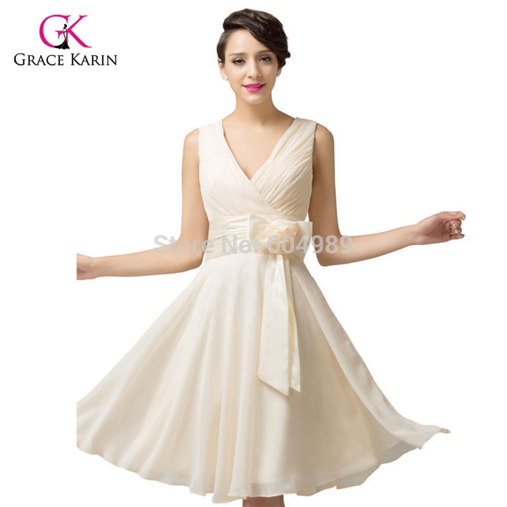 Free Shipping stock Grace Karin Women Fashion Purple Sky Blue Deep V neck  Short Evening Dresses 6015-in Evening Dresses from Weddings   Events on ... bdaaacffcf90