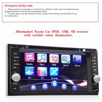 2 Din 7 zoll TFT LCD Touch Screen Bluetooth Auto DVD Stereo USB MP3 Radio Player Für Landcruiser Prado Hilux