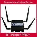 Большой дальности Bluetooth мобильные устройства, proximity marketing Bt-толкатель PRO + с автомобильное зарядное устройство, 4800 мАч батареи с помощью свет в окне свет