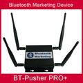 long range Bluetooth mobiles proximity marketing device BT-Pusher PRO+ with car charger,4800maH battery using in light box